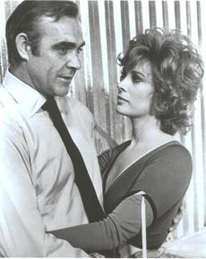 "8. Jill St. John as Tiffany in ""Diamonds are Forever"" (1971): As Diamond smuggler Tiffany (the first American Bond girl), St. John also gave the iconic Bond bikini a modern update when she wore it with a two-tone long sleeve top that was every bit as sexy a the many competing Bond-kinis."